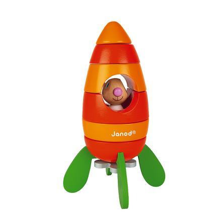 Janod® Lapin - Magnetischer Bausatz Rakete Karotte mit Hase