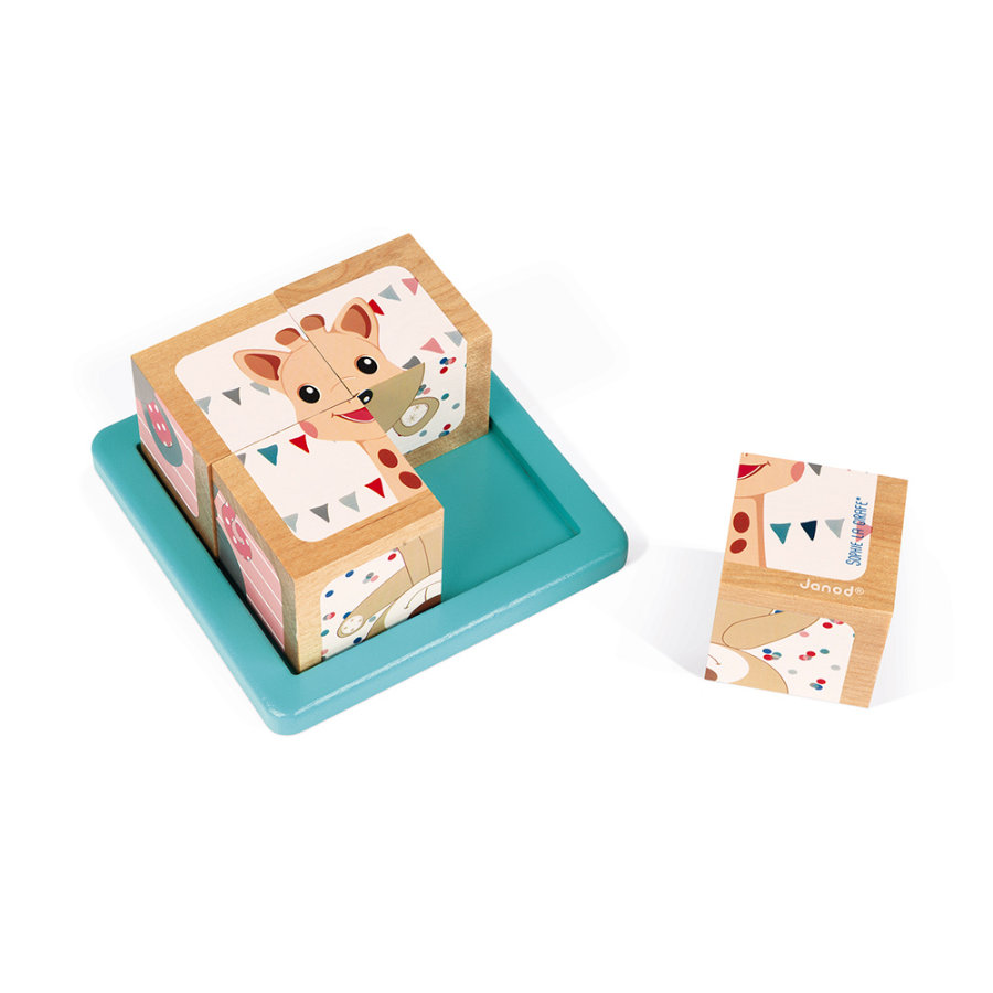 Janod® Sophie la girafe - Cubi in legno