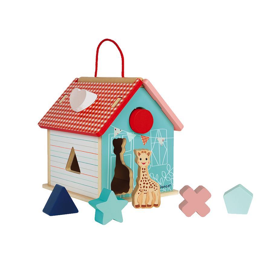 Janod® Sophie la girafe - Steck- und Sortierspiel Haus