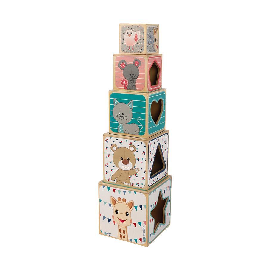 Janod® Sophie la girafe - Pirámide de apilamiento