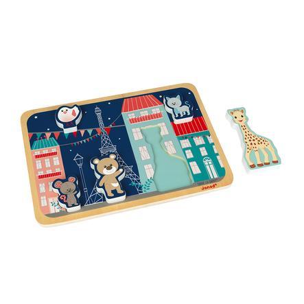 Janod® Sophie la girafe - Chunky Holzfiguren-Puzzle