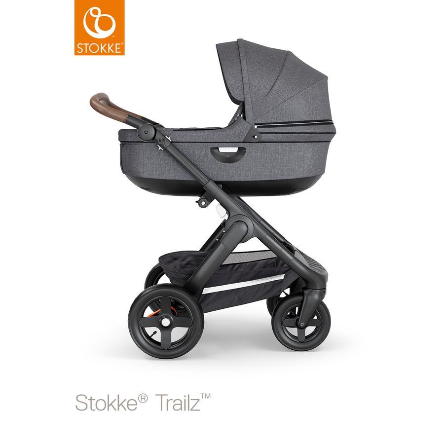 STOKKE® Kombikinderwagen Trailz™ Black/Brown Black Melange mit Geländeräder