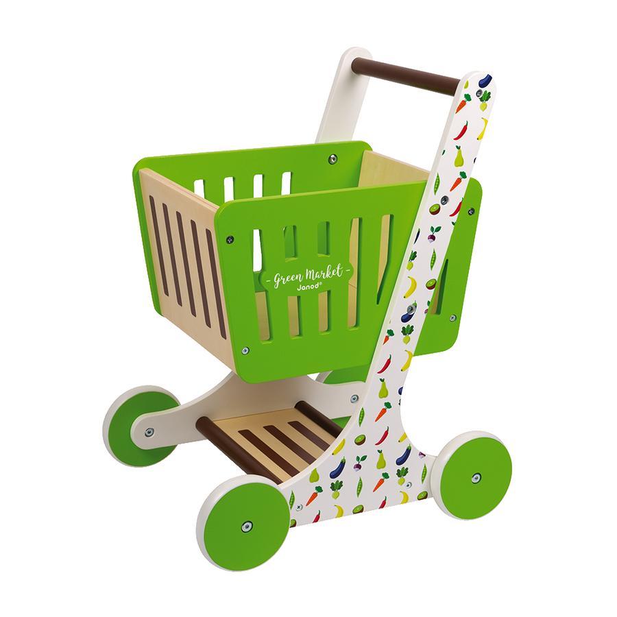 Janod® Carrito de la compra Green Market con accesorios