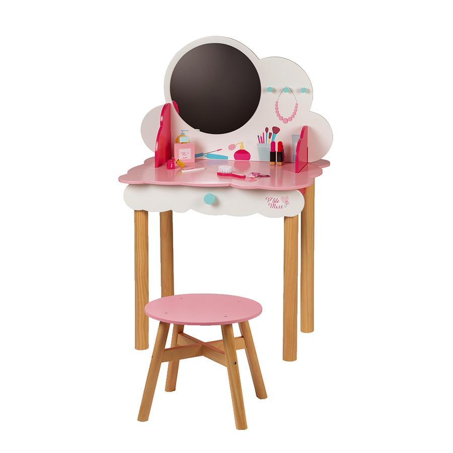 Janod®  Mesa de maquillaje y tocador P'tite Miss con taburete