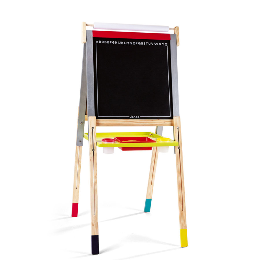Janod® Pizarra magnética y de tiza Graffiti, regulable en altura
