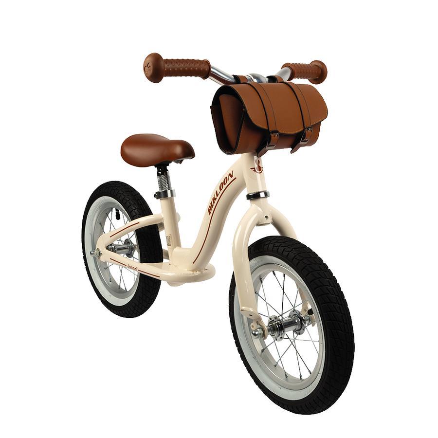 Janod® Vintage-Bikloon Laufrad Hellbraun mit Lenkertasche