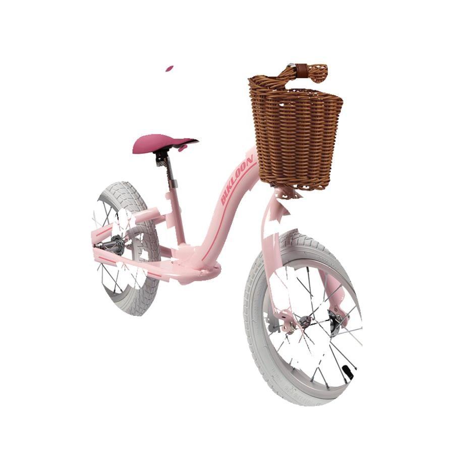 Janod Vintage -Bikloon hjul pink med kurv