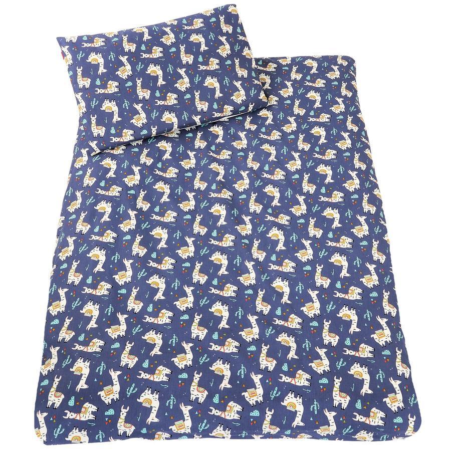 IDEENREICH ložní prádlo 100 x 135 cm, lama modrá