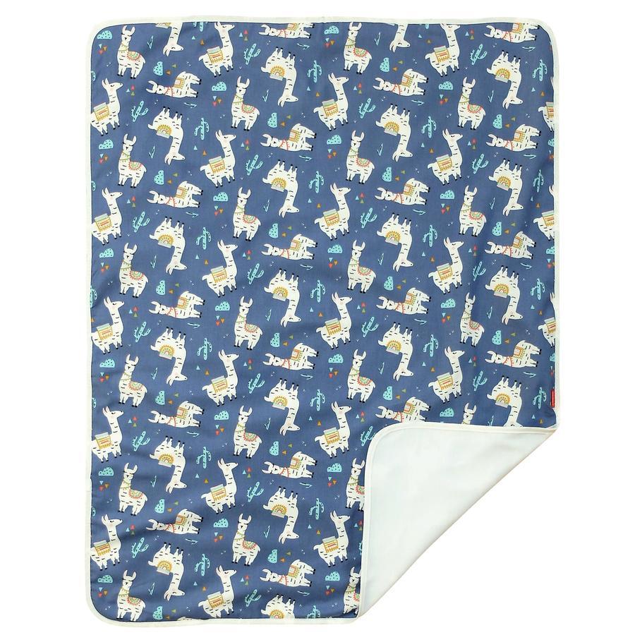 IDEENREICH Babydecke 70 x 90 cm, Lama blau