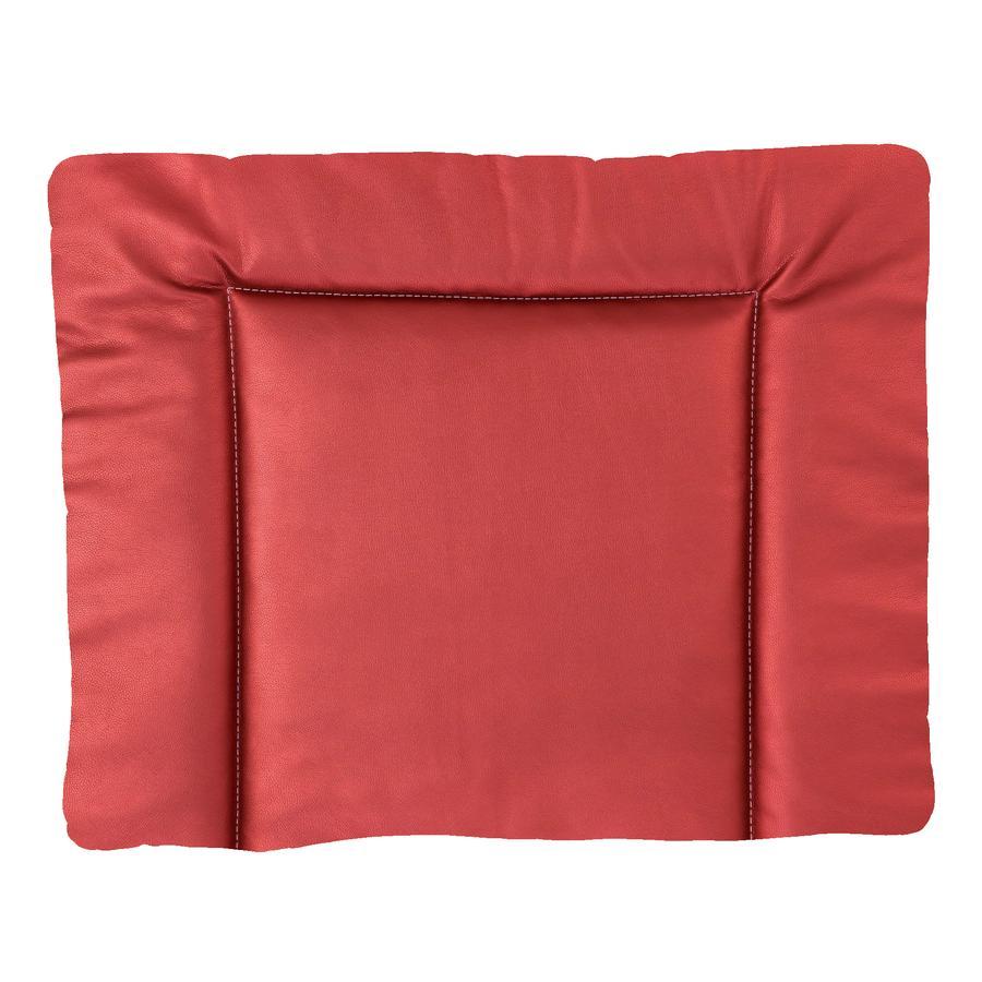 IDEENREICH Cambiador 85 x 75 cm, chimenea de imitación cuero rojo