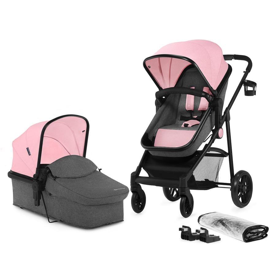 Kinderkraft Juli kombibarnevogn 2 i 1 rosa