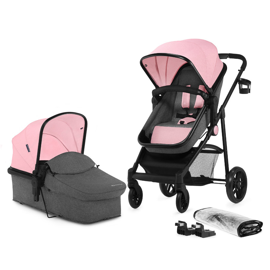 Kinderkraft Passeggino trio Prime 2 in 1 pink