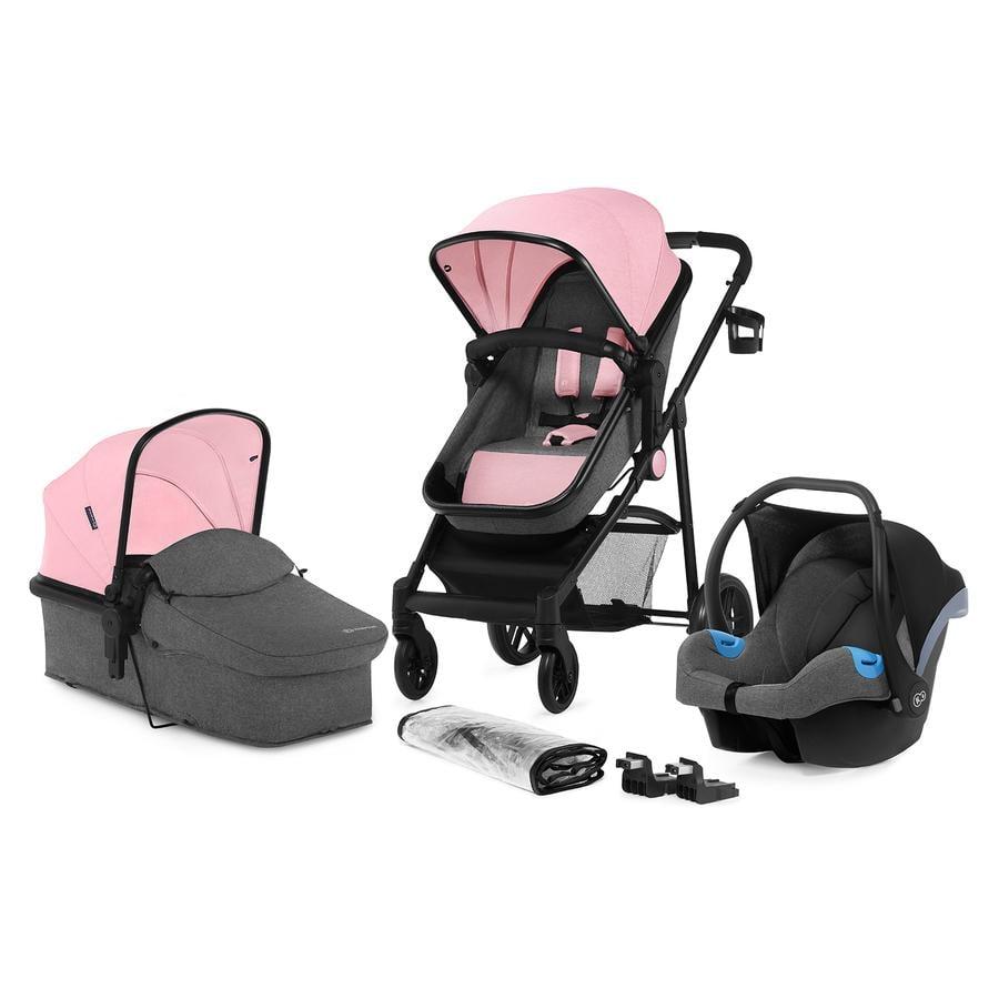 Kinderkraft Kombikinderwagen Juli 3 in 1 Pink