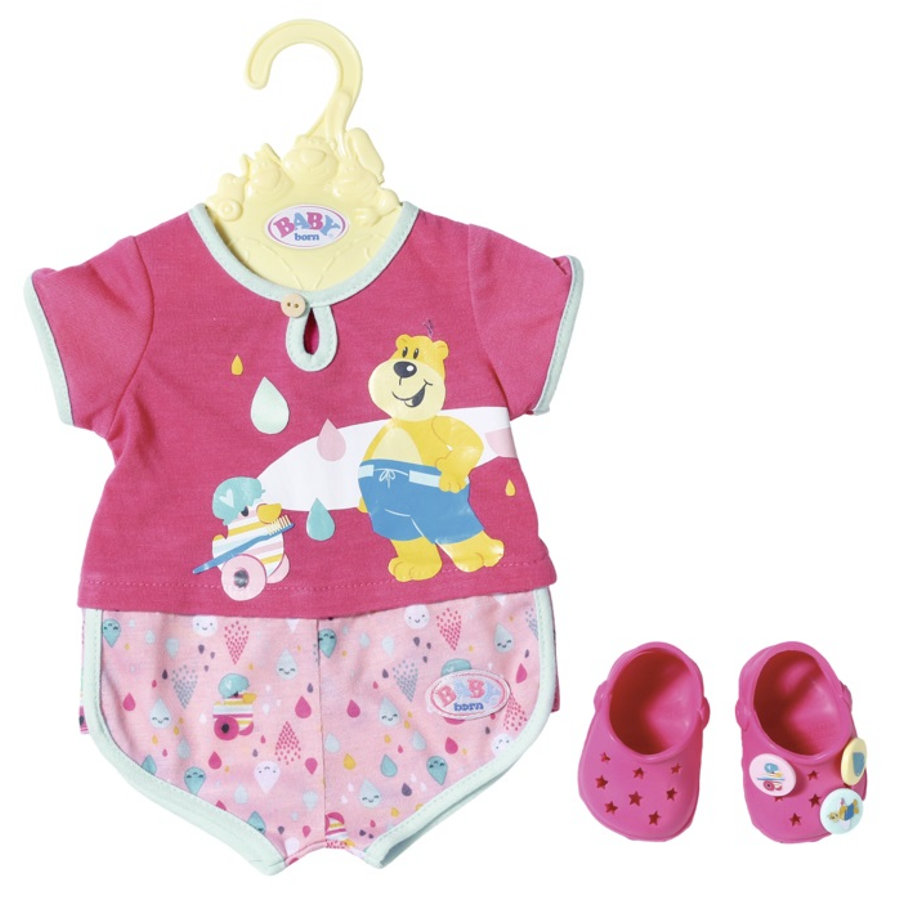 Zapf Creation  BABY born® Bain Pyjamas & Clogs , 43cm