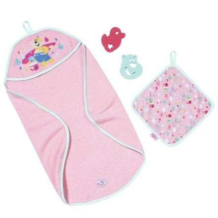 Zapf Creation BABY born® Bath Kapuzenhandtuch & Schwamm