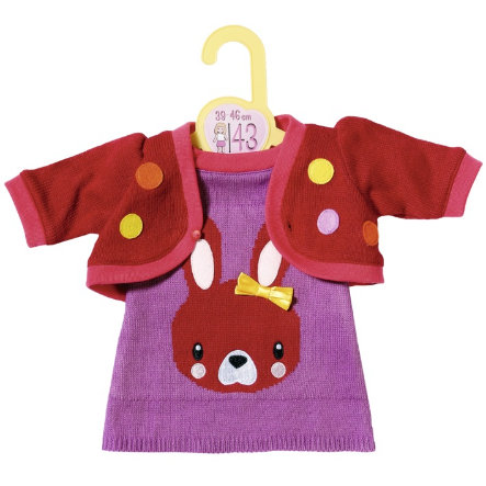 Zapf Creation Dolly Moda pletené šaty s bundou, 43cm
