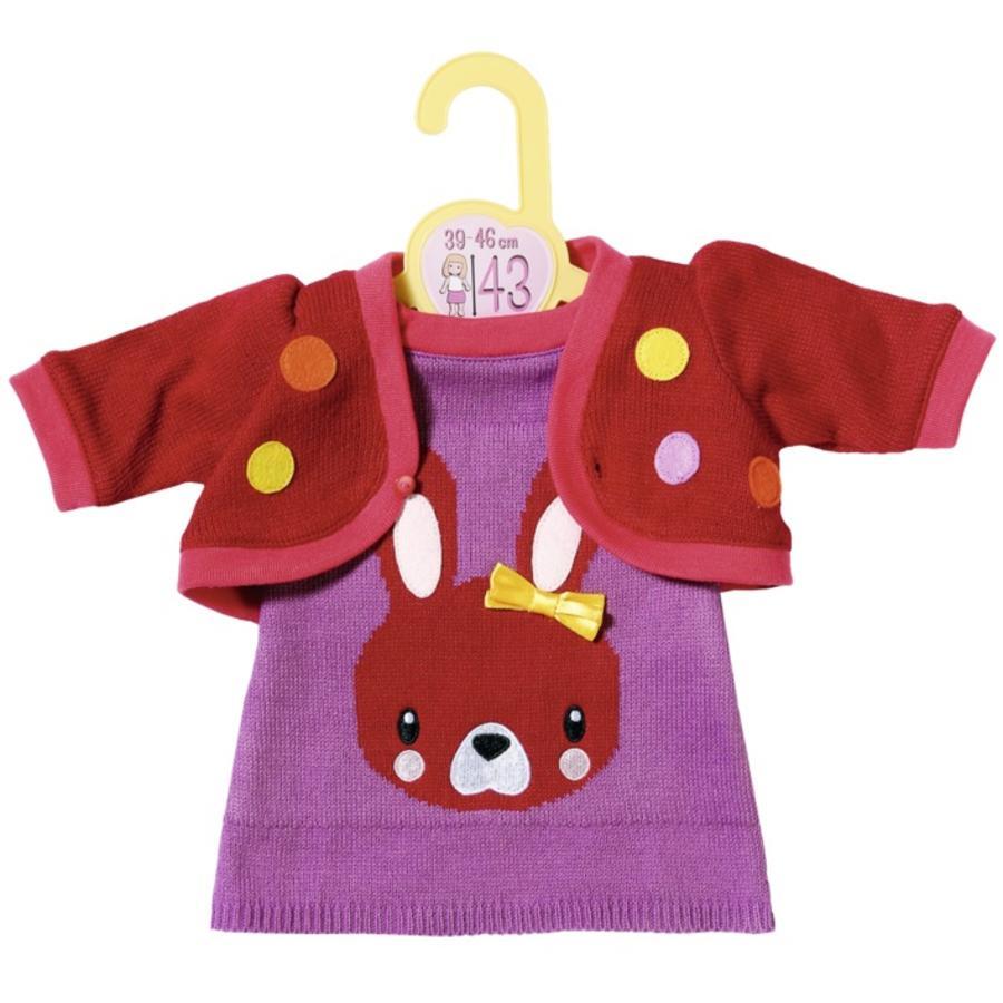 Zapf Creation Dolly Moda strikket kjole med jakke, 43cm