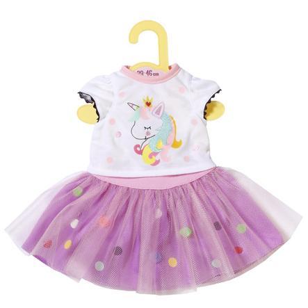 Zapf Creation Dolly Moda Eenhoorn Shirt met Tutu, 43cm