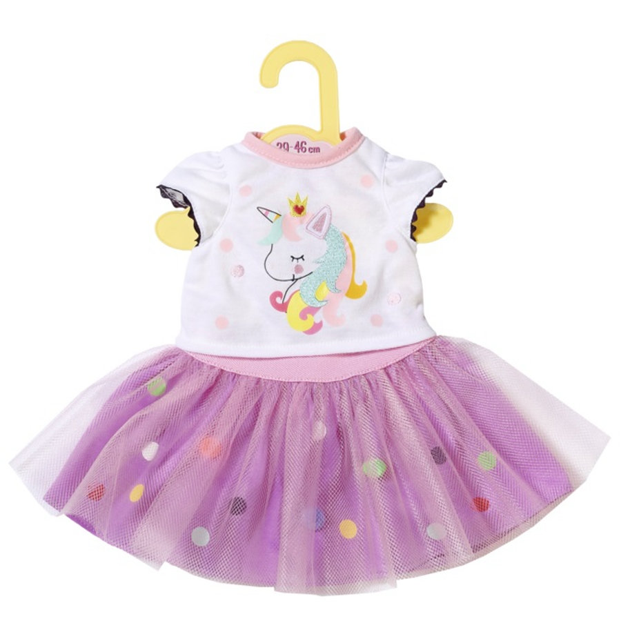 Zapf Creation  Dolly Moda Unicorn Shirt con Tutu, 43cm