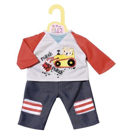 Zapf Creation Dolly Moda Hose mit Sweatshirt, 43cm