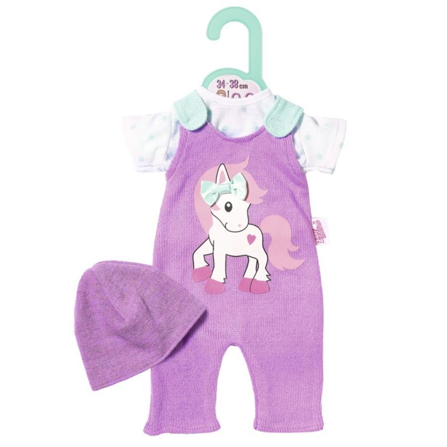 Zapf Creation Dolly Moda pletená šmýkačka s čepicí 36cm