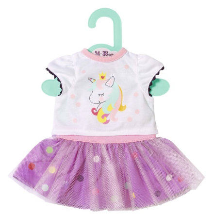 Zapf Creation Dolly Moda Einhorn Shirt mit Tutu, 36cm