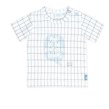 Feetje T-Shirt Happy Camper blanc à carreaux