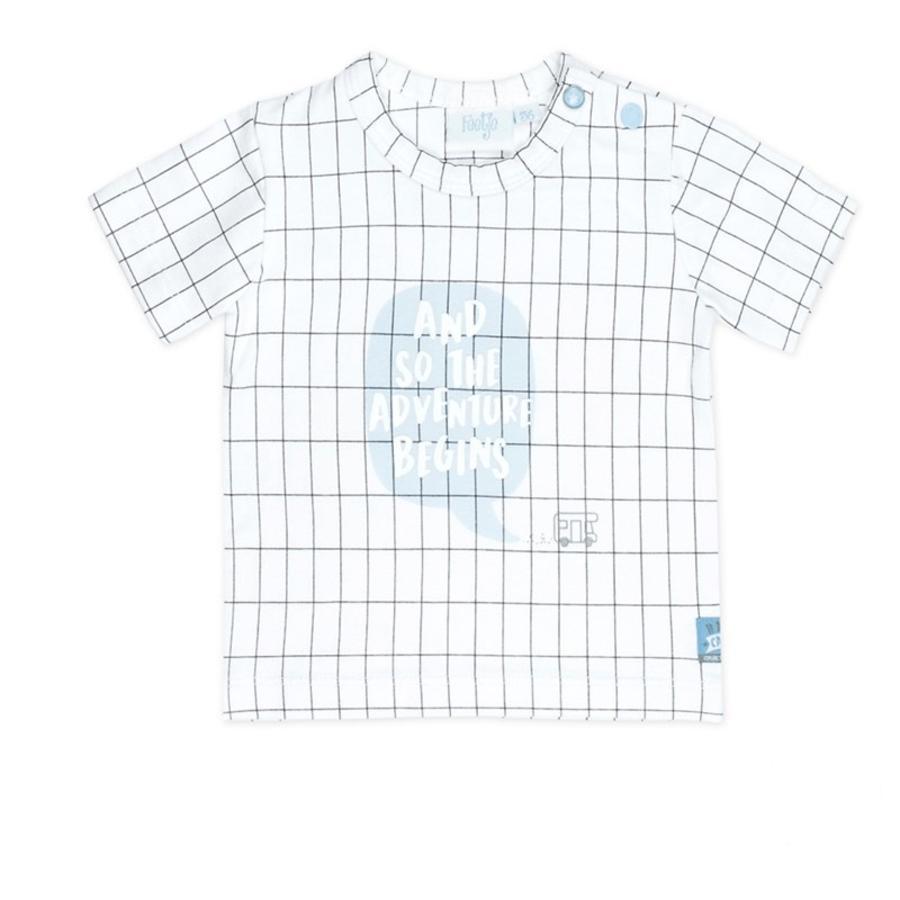 Feetje T-Shirt Gelukkige Camper wit geblokt