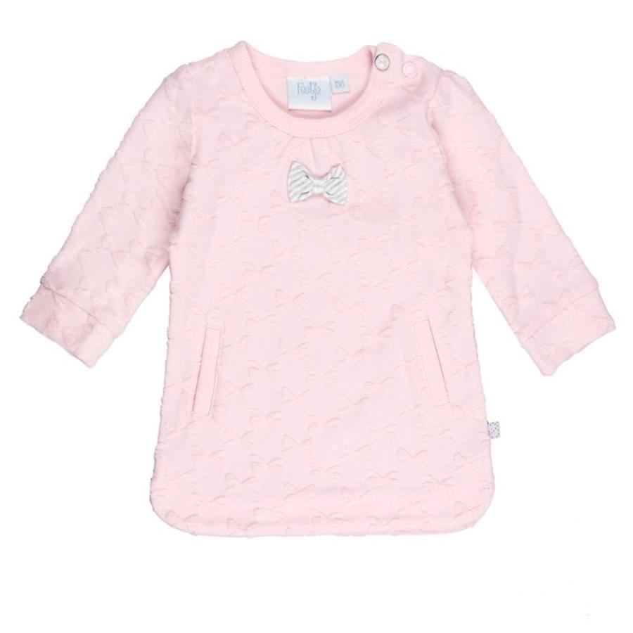 Feetje tyttöjen Dress fancy kangas kumartaa minua kaikkia vaaleanpunaisina