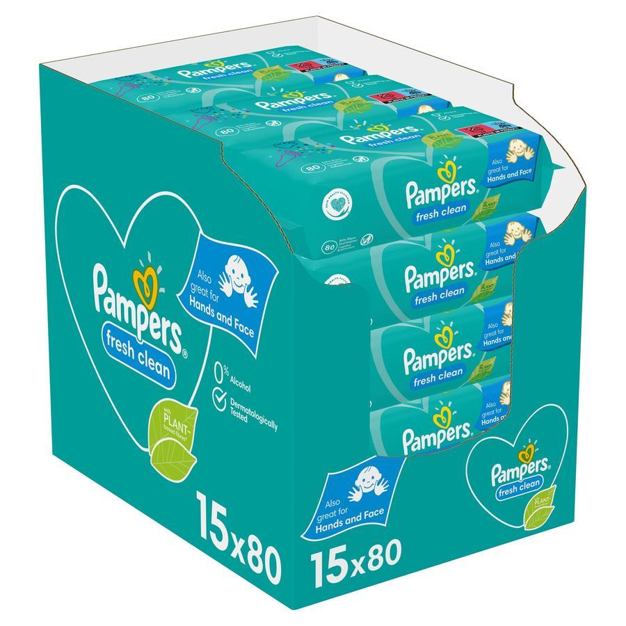 Pampers Vochtige doekjes Fresh Clean voordeelpak 15 x 80 stuks (1200 doekjes)