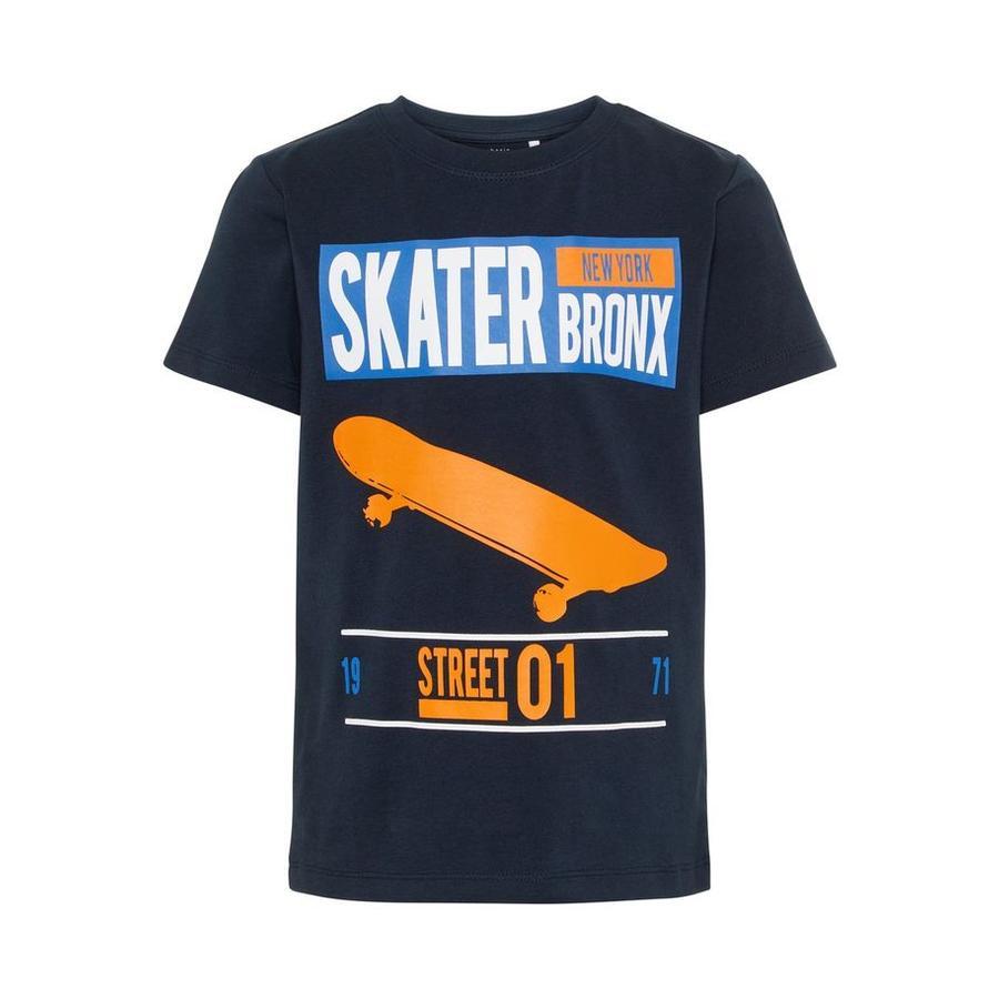 name it T-Shirt Nbmhebom ciemny szafir Nbmhebom
