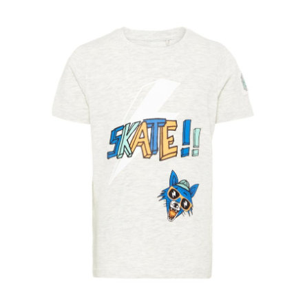 name it Boys T-Shirt Huffano Light Grey Melange