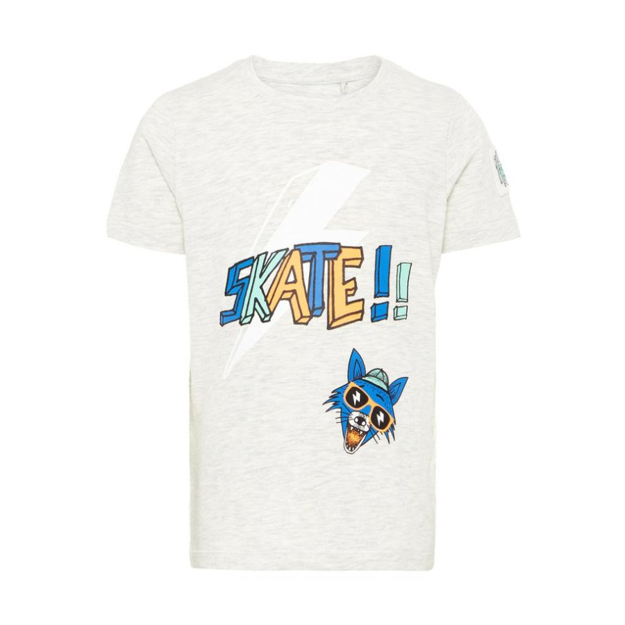 name it Boys T-Shirt Huffano Lichtgrijs Melange