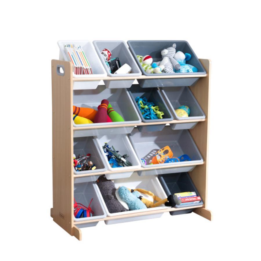 KidKraft® Aufbewahrungssystem grau 12 Kisten