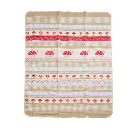 DAVID FUSSENEGGER bavlněná deka beruška přírodní 80 x 80 cm