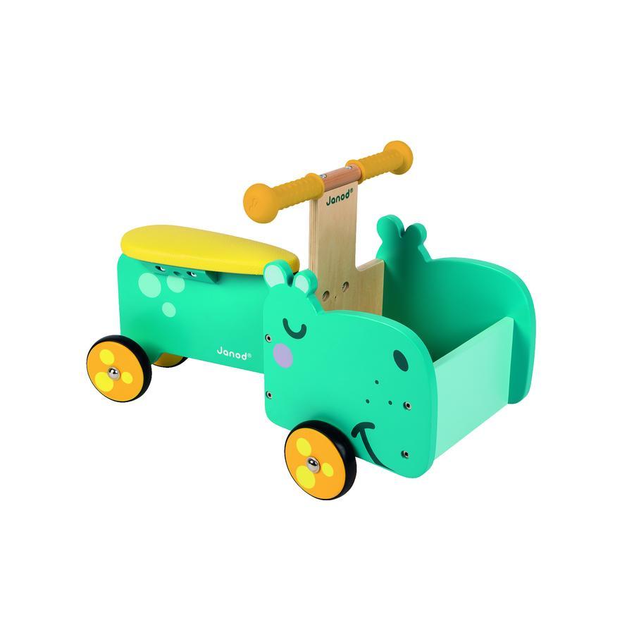 Janod® Loopauto nijlpaard met beweegbare voorkant