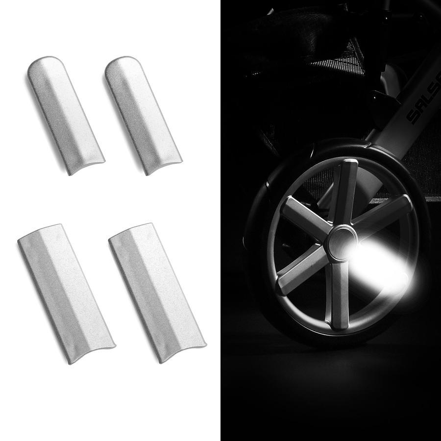 ABC DESIGN Kinderwagen Reflektor-Kit silver