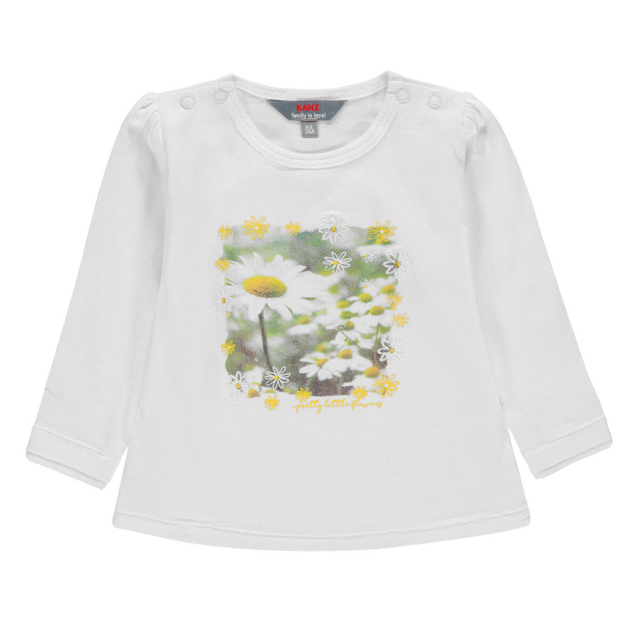 KANZ Girl s Koszula z długim rękawem, biała