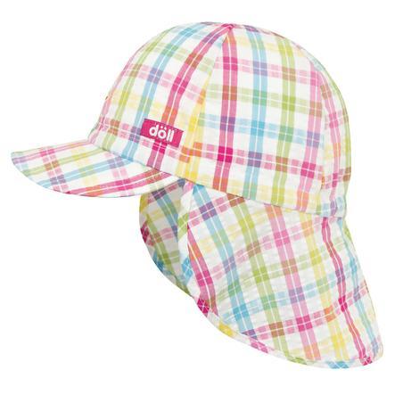 Döll Girl Gorra de béisbol, de cuadros escoceses multicolores