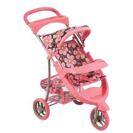 Bino Doll barnevogn, rosa