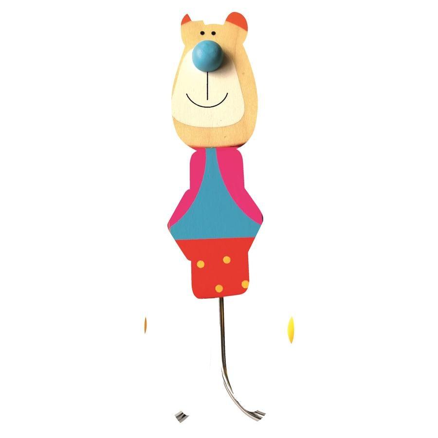 Bino Patère enfant ours bois