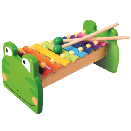 Bino tre Metal l xylofon, frosk