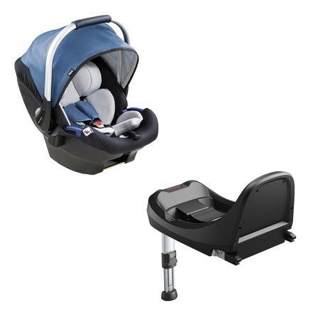 hauck Seggiolino auto iPro Baby Set Denim incl. Base