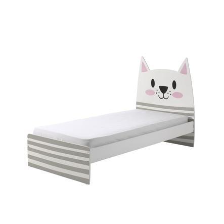 łóżko Funny Cat 90 X 200 Cm Ze Szczebelkam