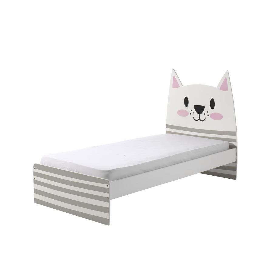 VIPACK Einzelbett Funny Cat 90 x 200 cm inkl. Lattenrost
