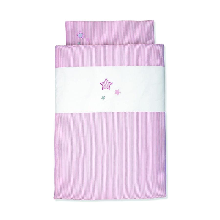 Sterntaler Parure de lit enfant rose 80x80 cm
