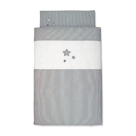 Sterntaler Baby-Bettwäsche grau 100 x 135 cm