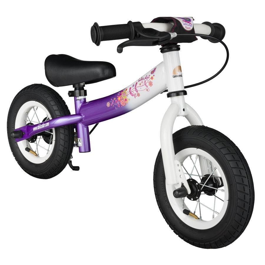 """bikestar® Draisienne enfant 10"""" Candy diamant mauve/blanc"""