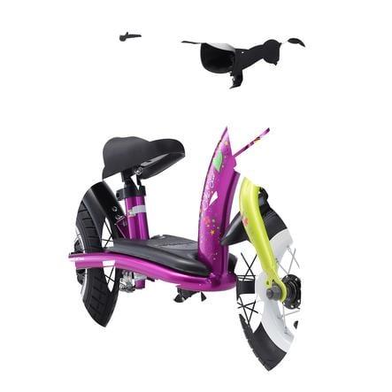 """bikestar Kinderlaufrad 10"""" Classic Berry Weiß"""