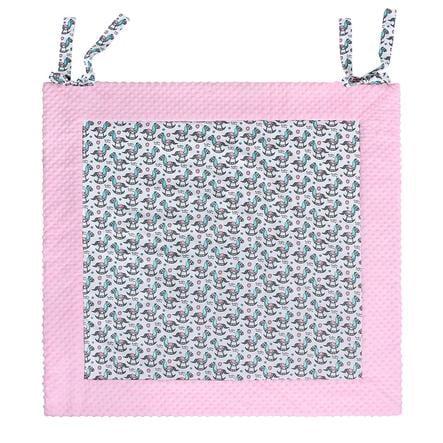 LULANDO Manta Play arrastrable - Alfombra rosa balancín 150 x 150 cm